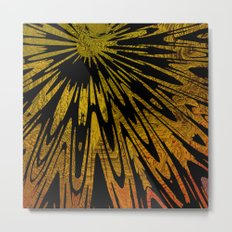 Native Tapestry in Gold Metal Print