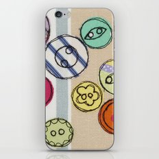 Embroidered Button Illustration iPhone & iPod Skin