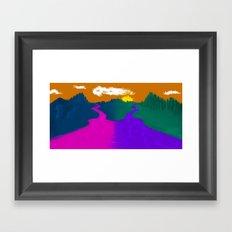 2 Rivers Framed Art Print