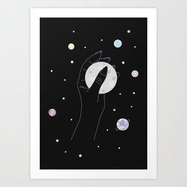 Energetic - Full Moon Illustration Art Print