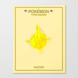 Pokémon Types Badges: Electric Type Canvas Print