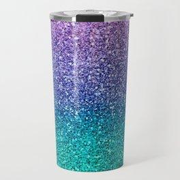 Lavender Purple & Teal Glitter Travel Mug