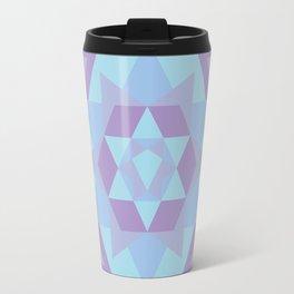 Geometric Mandala in Blue & Purple Travel Mug