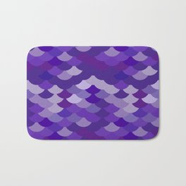 Ultra Violet wave, abstract simple background with japanese seigaiha circle pattern Bath Mat