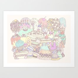 The Sweet Forest Pattern Art Print