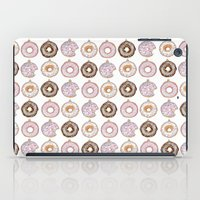 doughnut iPad Cases featuring Doughnut Ornaments by stylishbunny