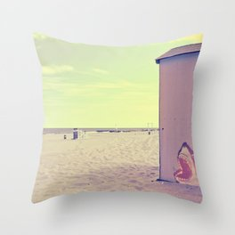 A Nice Summer Swim Throw Pillow
