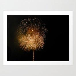 Firework show Art Print