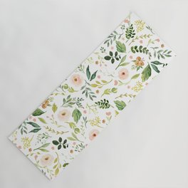 Botanical Spring Flowers Yoga Mat
