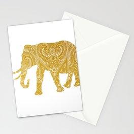Gold Mandala Elephant Stationery Cards