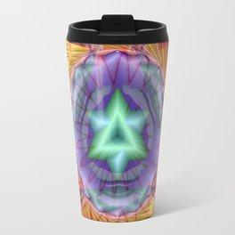 Alteuisha- Abstract Spiritual Fractal Art- Healing Art- Jewish Art- Merrkabbah Art Travel Mug
