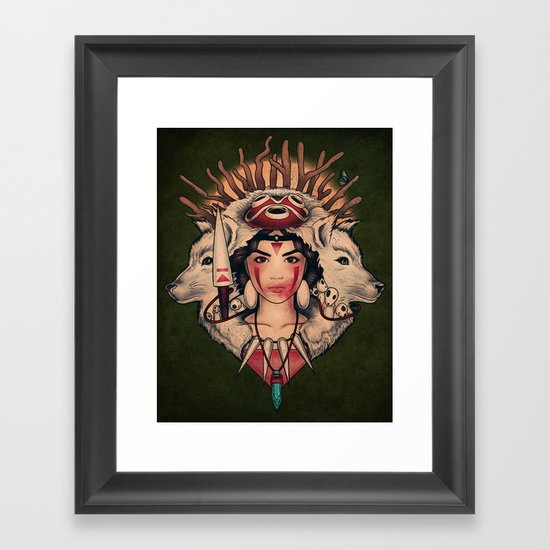 Spirit Princess Framed Art Print
