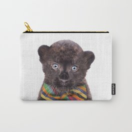 Baby Panther With Bow Tie, Baby Animals Art Print By Synplus Carry-All Pouch