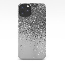 Soft Silver Gray Glitter #1 (Faux Glitter - Photography) #shiny #decor #art #society6 iPhone Case