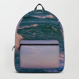 Sunset Crashing Waves Backpack