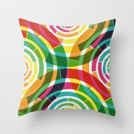 Colorful shouts Throw Pillow