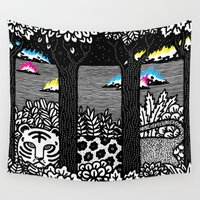 jungle Wall Tapestries featuring Jungle by Heiko Windisch