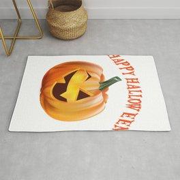Happy Halloween Funny Jack o Lantern Pumpkin Rug
