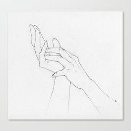 Untitled Hands Canvas Print