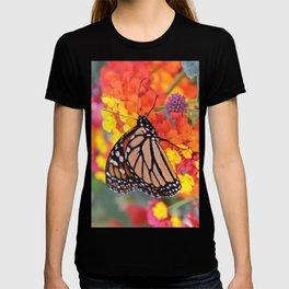 Monarch Feeding on Lantana T-shirt