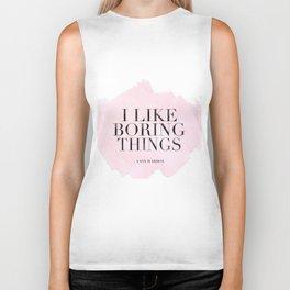 I Like Boring Things,Office Wall Art,Home Decor,Modern Art,Fashion Print,Watercolor Print,Hot Pink,A Biker Tank