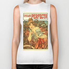 "Alphonse Mucha ""Cycles Perfecta"" Biker Tank"