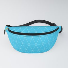 Simple Geometric Triangle Pattern - White on Teal - Mix & Match with Simplicity of life Fanny Pack
