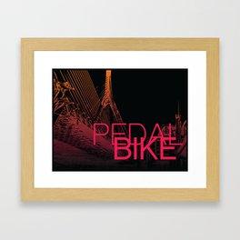 PedalBoston Framed Art Print