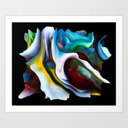 Your World 11 - Abstract 3D Milk Painting Art Print