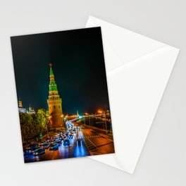 Moscow Kremlin At Night Stationery Cards