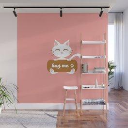Hug Me Nyanko Wall Mural