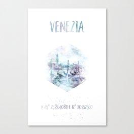 Coordinates VENICE Grand Canal | watercolor Canvas Print