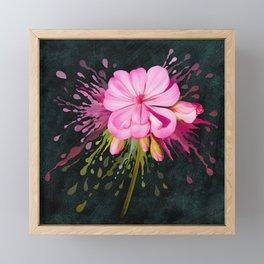 Color Eruption On Distressed Dark Framed Mini Art Print
