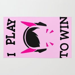 I Play to Win - D.Va Rug