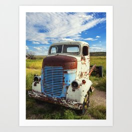 old truck rusts Art Print