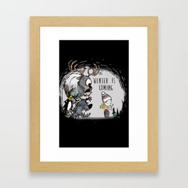 Winter Starve Framed Art Print