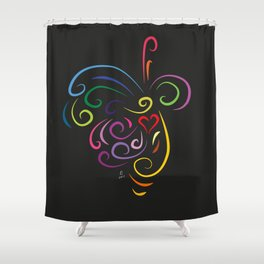 The butterfly - The heart of Esperanza Shower Curtain
