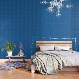 Paisley Dark Blue Wallpaper