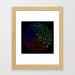 Whispering Spirit Multi-Coloured Mandala Design On Black Framed Art Print