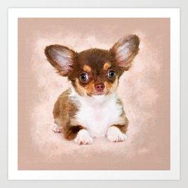 Cute Chihuahua Puppy Art Print