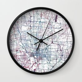 Columbus map Wall Clock
