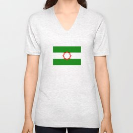 Andalusia flag spain country region Unisex V-Neck