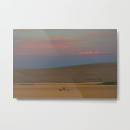 Harvest at Sunset Metal Print