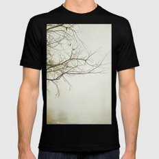 Escaping Into Your World MEDIUM Black Mens Fitted Tee