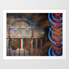 Making Music [In Anaglyph 3D] Art Print