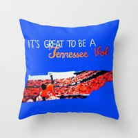 tennessee Throw Pillows featuring Tennessee Volunteers by megan matthews