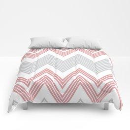 Skinny Chevron (Gray & Coral) Comforters