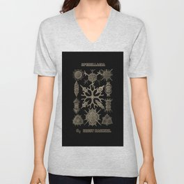 """Spumellaria"" from ""Art Forms of Nature"" by Ernst Haeckel Unisex V-Neck"
