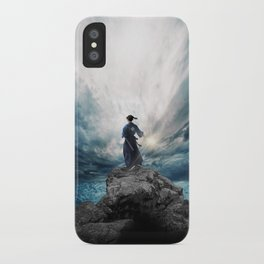 The Sword of Kaigen by M. L. Wang - Cover Art iPhone Case
