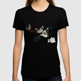 Long Gone Whisper III (street art graffiti painting, girl with butterflies) T-shirt